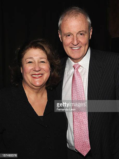 Actress Margo Martindale and writer Robert Harling attend the after party for the 25th anniversary celebrity stage reading of Steel Magnolias at...