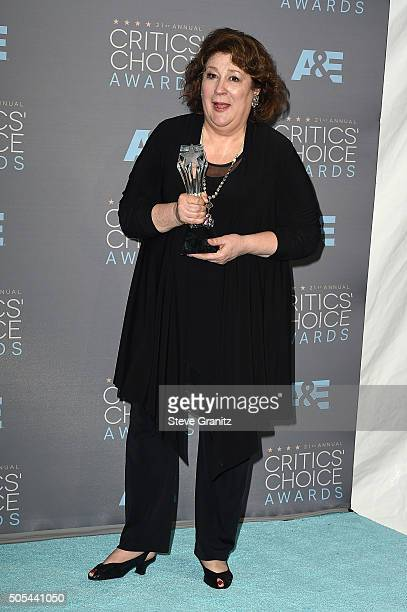 """Actress Margo Martindale, winner of the award for Best Guest Actor/Actress in a Drama Series for """"The Good Wife,"""" poses in the press room during the..."""
