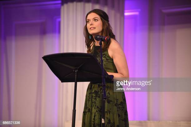 Actress Margo Seibert performs on stage at The Eugene O'Neill Theater Centers to the Monte Cristo Awards honoring Judith Light on May 21 2017 in New...