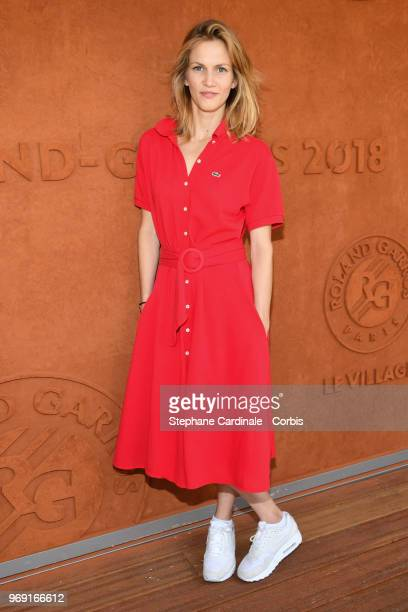 Actress Margot Bancilhon attends the 2018 French Open - Day Twelve at Roland Garros on June 7, 2018 in Paris, France.