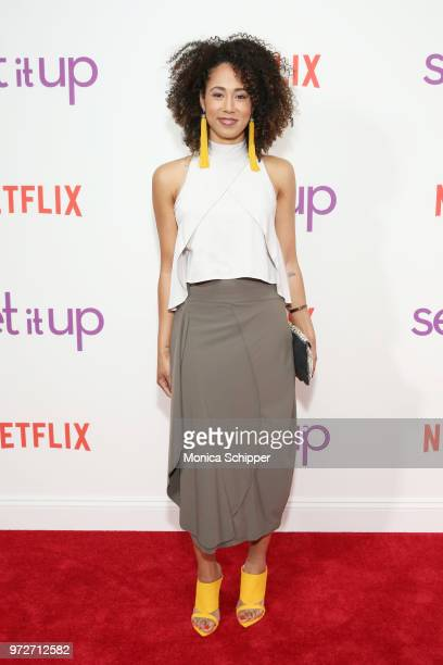 Actress Margot Bingham attends a special screening of the Netflix film Set It Up at AMC Lincoln Square Theater on June 12 2018 in New York City