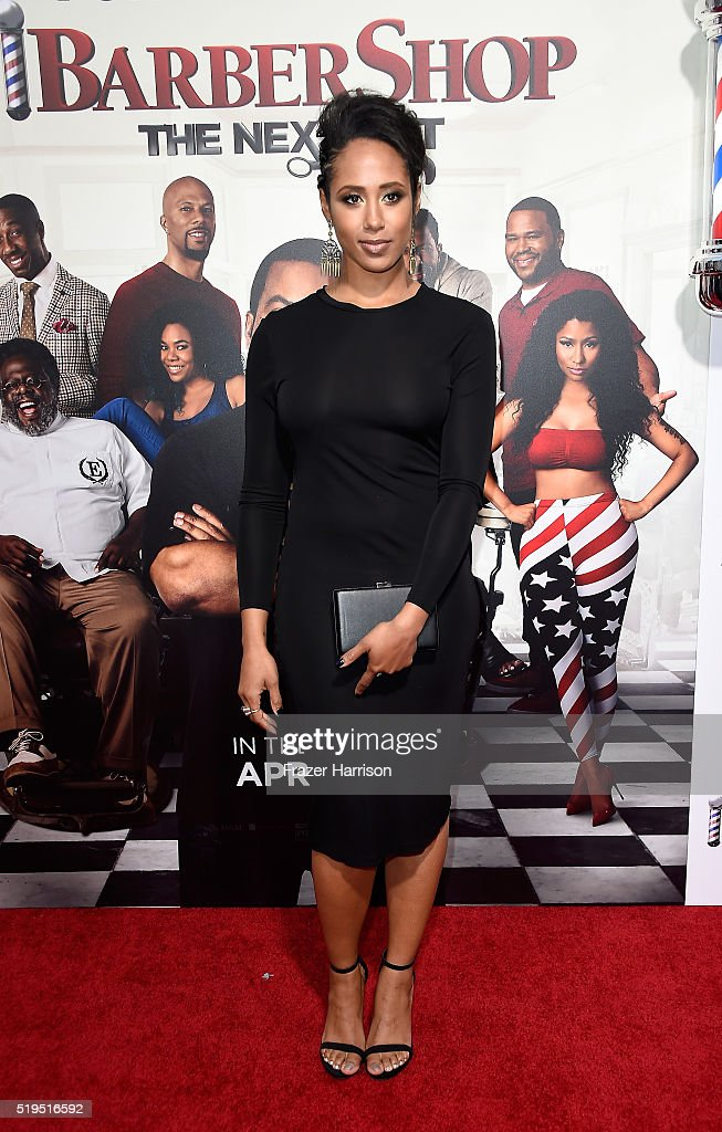Actress Margot Bingham attends the Premiere Of New Line Cinema's 'Barbershop: The Next Cut' at TCL Chinese Theatre on April 6, 2016 in Hollywood, California.