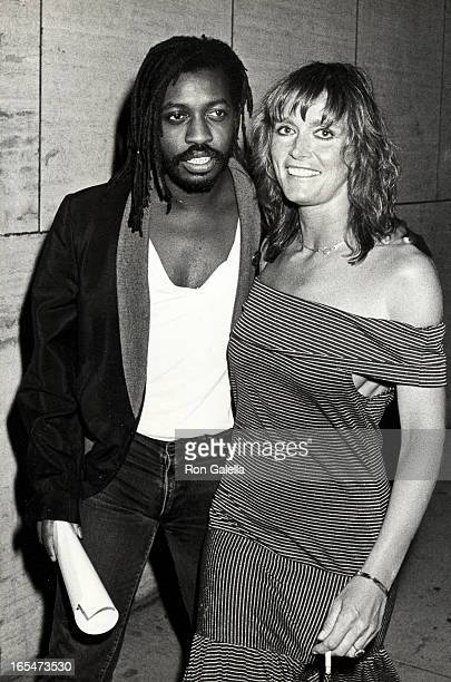 Actress Margot Kidder and date Steve Jordan attending the screening of 'A Fish Called Wanda' on July 7 1988 at the Bruno Walter Auditorium at Lincoln...