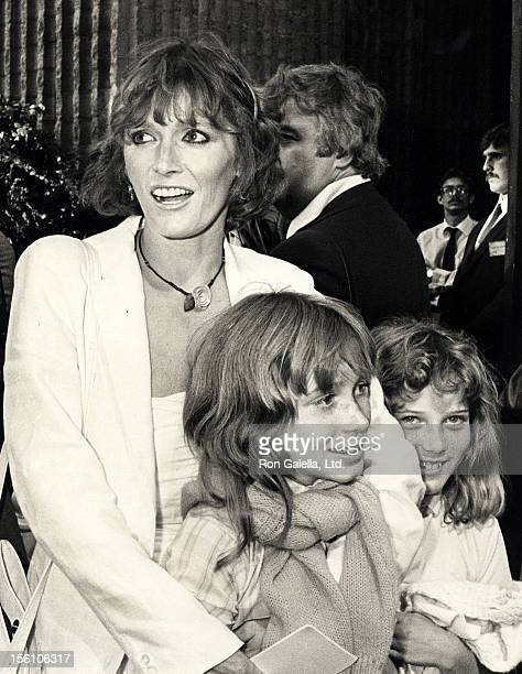 Actress Margot Kidder and daughter Maggie McGuane attending the screening of 'Ghostbusters' on June 7 1984 at the Avco Cinema in Westwood California