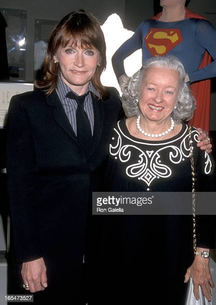 Actress Margot Kidder and mother attend the 'Superman' DVD Release Party on May 1 2001 at Warner Bros Studios in Burbank Ca