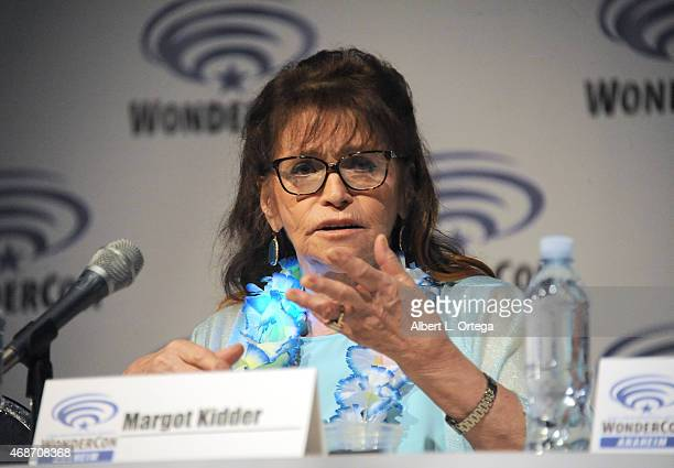 Actress Margot Kidder attends day 2 of WonderCon Anaheim 2015 held at Anaheim Convention Center on April 4 2015 in Anaheim California