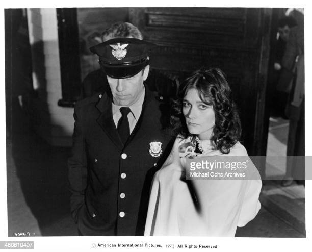 Actress Margot Kidder in a scene from the movie 'Sisters' circa 1973