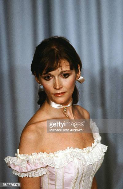 Actress Margot Kidder poses backstage during the 55th Academy Awards at Dorothy Chandler Pavilion Los Angeles California