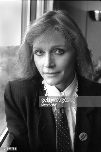 Actress Margot Kidder poses while making an appearance for Amnesty International on January 19 1988 in Tallahassee Florida