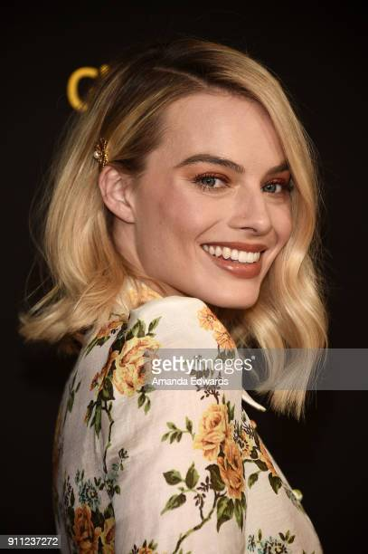 Actress Margot Robbie arrives at the 2018 G'Day USA Los Angeles Black Tie Gala at the InterContinental Los Angeles Downtown on January 27 2018 in Los...