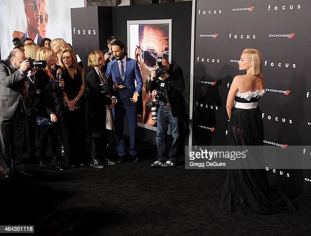 """Actress Margot Robbie arrives at the Los Angeles World Premiere of Warner Bros. Pictures """"Focus"""" at TCL Chinese Theatre on February 24, 2015 in..."""