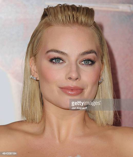 Actress Margot Robbie arrives at the Los Angeles World Premiere Of Warner Bros Pictures 'Focus' at TCL Chinese Theatre on February 24 2015 in...