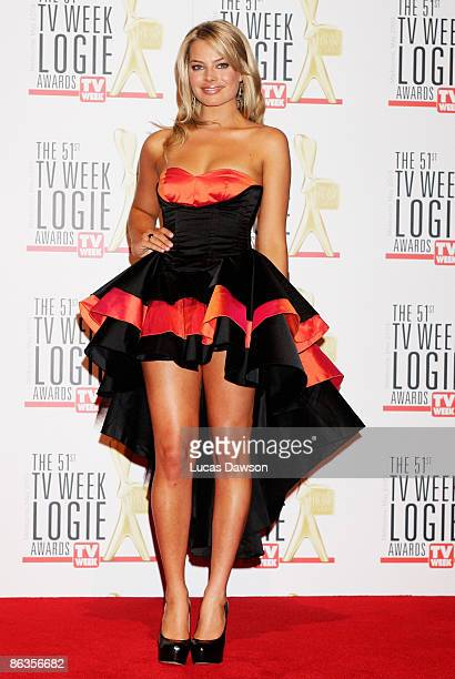 Actress Margot Robbie arrives for the 51st TV Week Logie Awards at the Crown Towers Hotel and Casino on May 3 2009 in Melbourne Australia