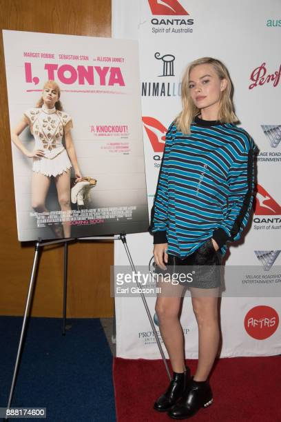 Actress Margot Robbie attends Australians In Film Host Screenon Of 'I Tonya' at Writers Guild Theater on December 7 2017 in Beverly Hills California