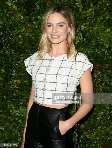 Actress Margot Robbie attends Charles Finch And CHANEL's 11th Annual PreOscar Awards Dinner at Polo Lounge at The Beverly Hills Hotel on February 23...