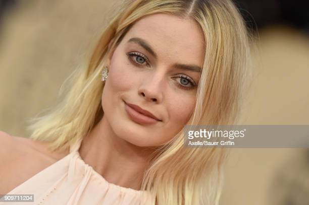Actress Margot Robbie attends the 24th Annual Screen Actors Guild Awards at The Shrine Auditorium on January 21 2018 in Los Angeles California