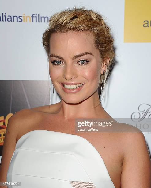 Actress Margot Robbie attends the 3rd annual Australians in Film Awards benefit gala at Fairmont Miramar Hotel on October 26 2014 in Santa Monica...
