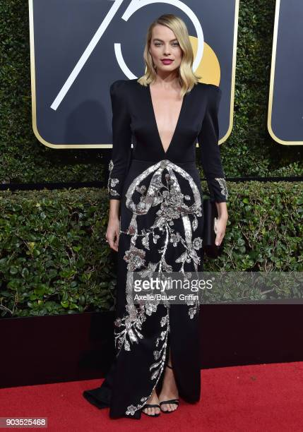 Actress Margot Robbie attends the 75th Annual Golden Globe Awards at The Beverly Hilton Hotel on January 7 2018 in Beverly Hills California