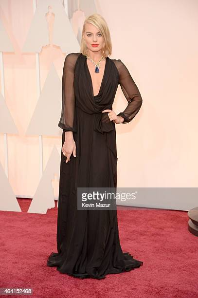 Actress Margot Robbie attends the 87th Annual Academy Awards at Hollywood & Highland Center on February 22, 2015 in Hollywood, California.