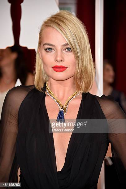 Actress Margot Robbie attends the 87th Annual Academy Awards at Hollywood Highland Center on February 22 2015 in Hollywood California