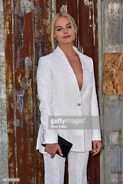 Actress Margot Robbie attends the Givenchy show during Spring 2016 New York Fashion Week at Pier 26 on September 11 2015 in New York City