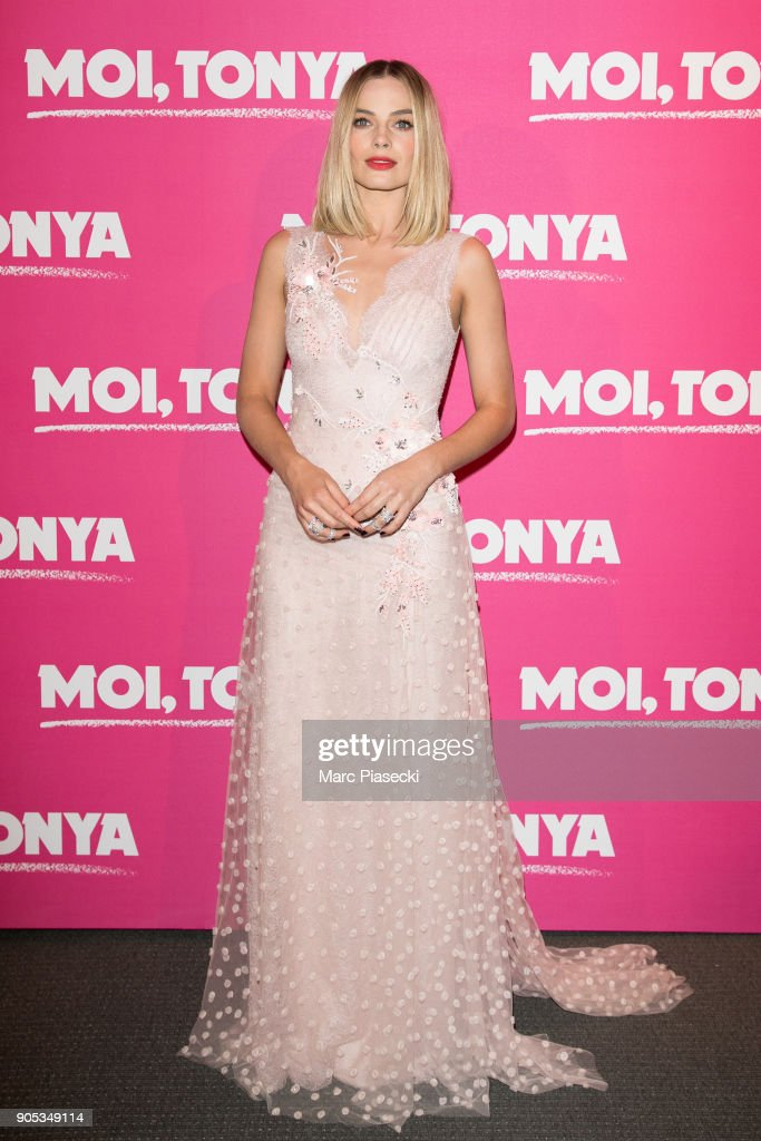 Actress Margot Robbie attends the 'I, Tonya' premiere at Cinema UGC Normandie on January 15, 2018 in Paris, France.