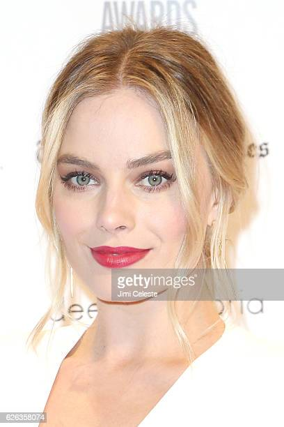 Actress Margot Robbie attends The Independent Filmmaker Project's 26th Annual Gotham Independent Film Awards at Cipriani Wall Street on November 28...