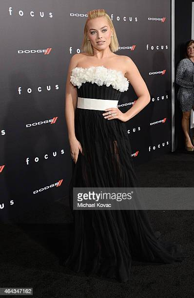 Actress Margot Robbie attends the Los Angeles Premiere of 'Focus' Sponsored By Dodge at TCL Chinese Theatre on February 24 2015 in Hollywood...