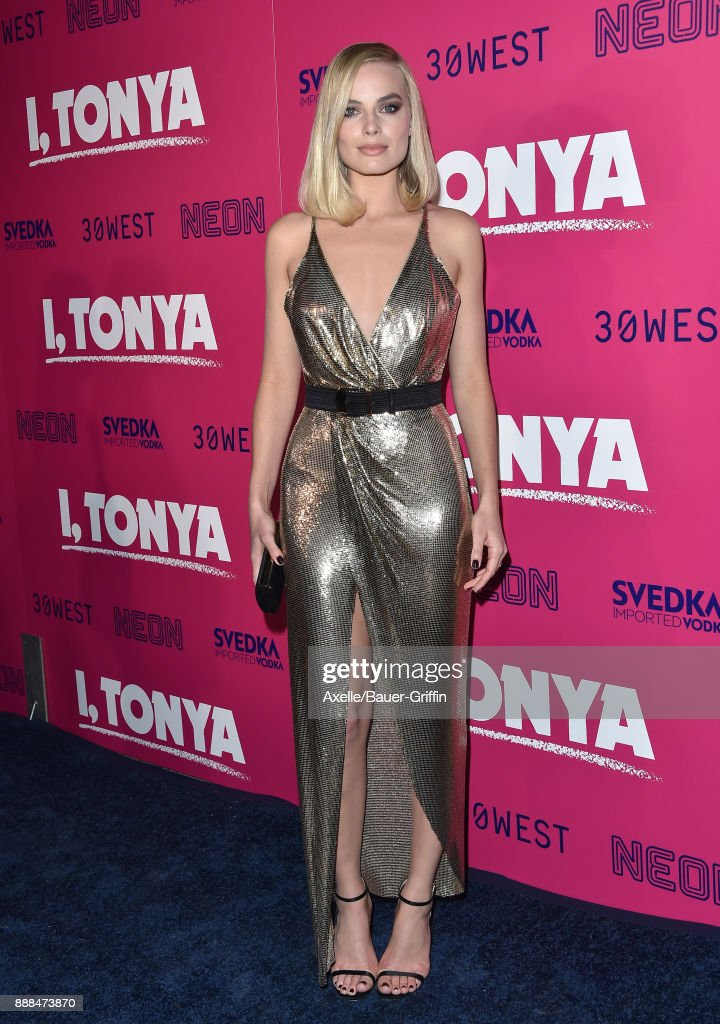 Actress Margot Robbie attends the Los Angeles premiere of 'I, Tonya' at the Egyptian Theatre on December 5, 2017 in Hollywood, California.