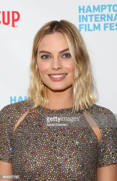 Actress Margot Robbie attends the red carpet for I Tonya at Guild Hall during Hamptons International Film Festival 2017 Day Four on October 8 2017 in...