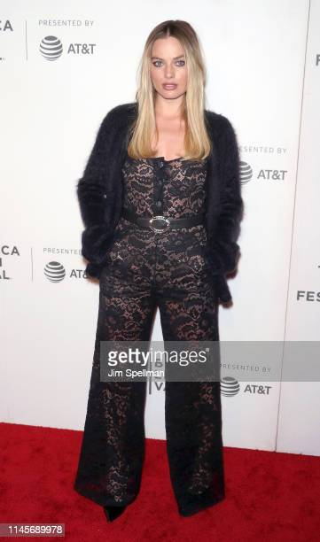 """Actress Margot Robbie attends the screening of """"Dreamland"""" during the 2019 Tribeca Film Festival at BMCC Tribeca PAC on April 28, 2019 in New York..."""