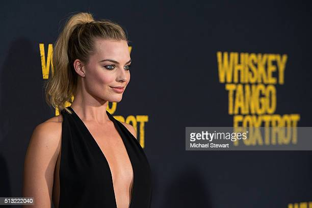 Actress Margot Robbie attends the 'Whiskey Tango Foxtrot' World Premiere at AMC Loews Lincoln Square 13 theater on March 1 2016 in New York City