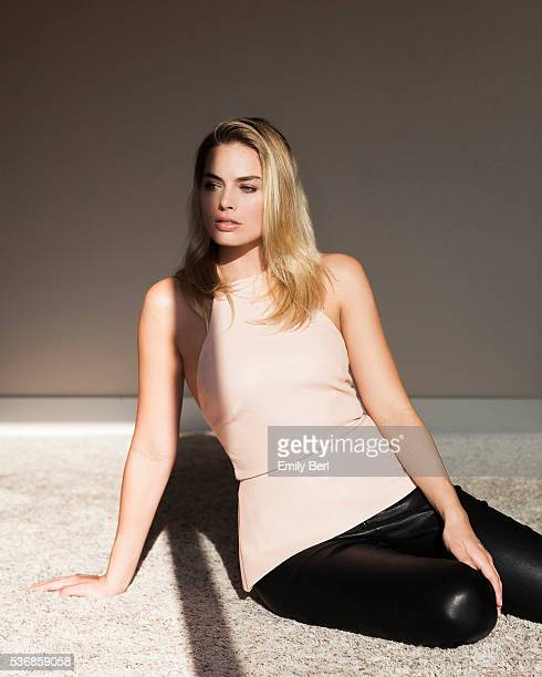 Actress Margot Robbie is photographed for New York Times on April 13 2016 in Los Angeles California