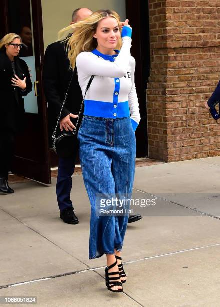 Actress Margot Robbie is seen on December 3 2018 in New York City