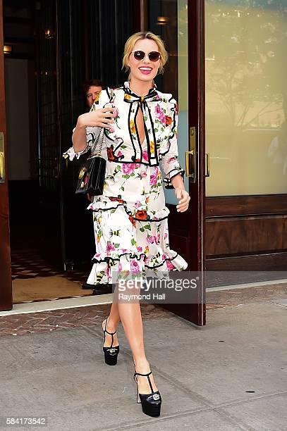 Actress Margot Robbie is seen walking in Soho on July 28 2016 in New York City