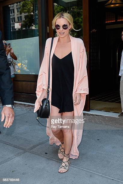 Actress Margot Robbie leaves her Tribeca hotel on July 27 2016 in New York City