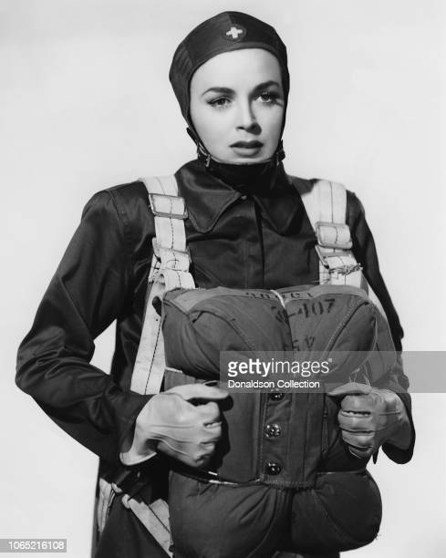 Actress Marguerite Chapman in a scene from the movie Parachute Nurse