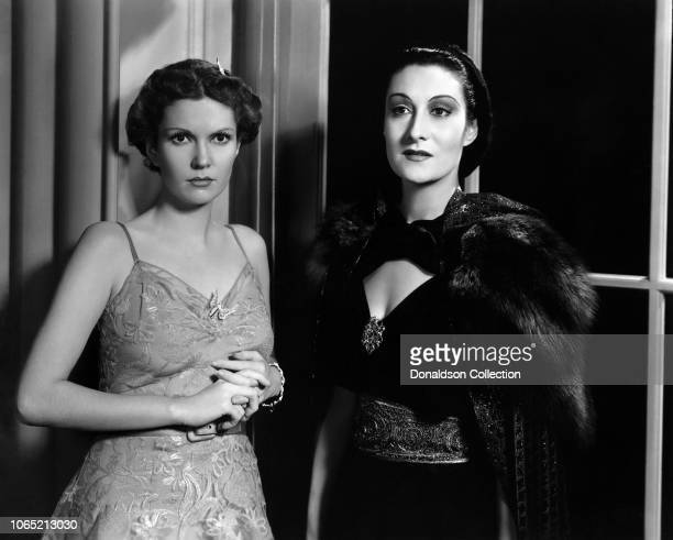 Actress Marguerite Churchill and Gloria Holden in a scene from the movie Dracula's Daughter