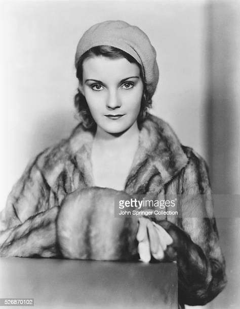 Actress Marguerite Churchill in Fur Coat and Muff