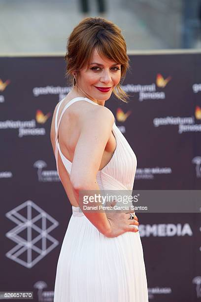 Actress Maria Adanez attends 'Nuestros Amantes' premiere during the 19th Malaga Film Festival at the Cervantes Teather on April 30 2016 in Malaga...