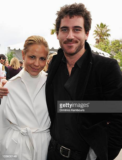 Actress Maria Bello and Bryn Mooser at Stoli at the 2008 Film Independent's Spirit Awards at the Santa Monica Pier on February 23, 2008 in Santa...