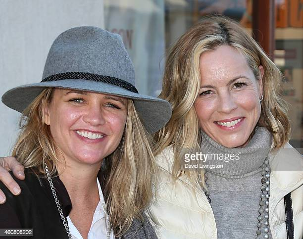 Actress Maria Bello and Clare Munn holiday shop on Montana Ave on December 23 2014 in Santa Monica California
