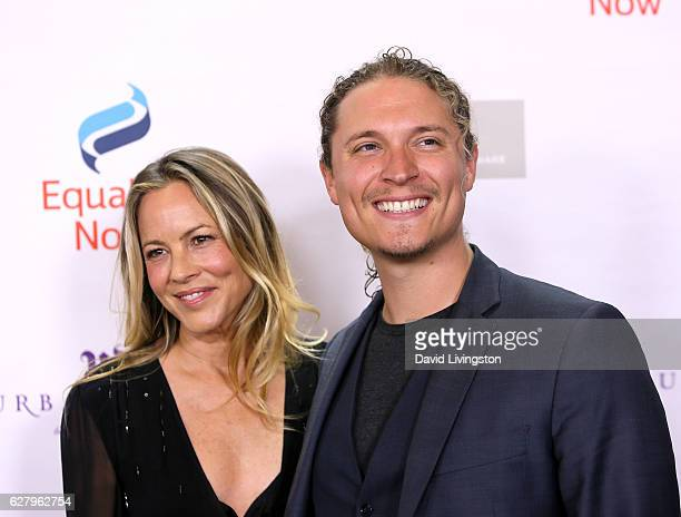 Actress Maria Bello and Elijah AllanBlitz arrive at Equality Now's 3rd Annual Make Equality Reality Gala at Montage Beverly Hills on December 5 2016...