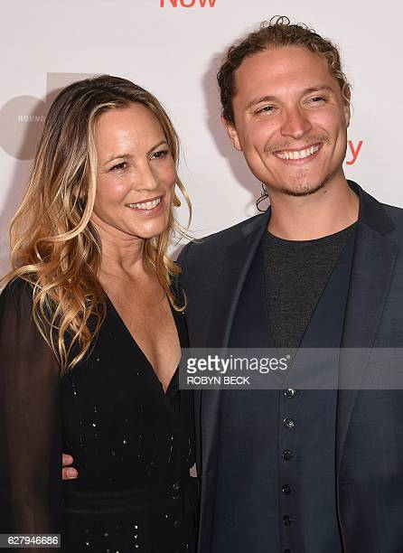 Actress Maria Bello and Elijah AllanBlitz attend Equality Now's third annual Make Equality Reality fundraising gala December 5 2016 at the Montage...