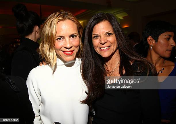 Actress Maria Bello and event chair Dr Susan Smalley attend Equality Now presents Make Equality Reality at Montage Hotel on November 4 2013 in Los...