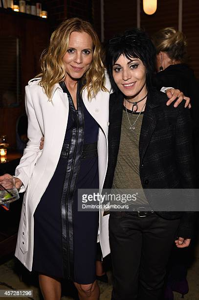Actress Maria Bello and Joan Jett attend Lifetime's BIG DRIVER red carpet screening with Maria Bello Olympia Dukakis and Joan Jett on October 15 2014...