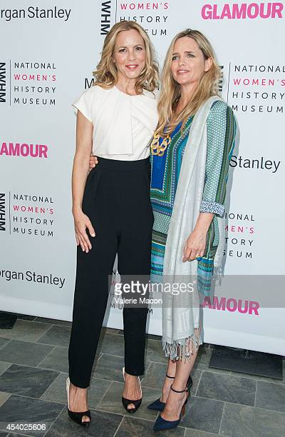 Actress Maria Bello and partner Clare Munn arrive at the National Women's History Museum And Glamour Magazine's 3rd Annual Women Making History...