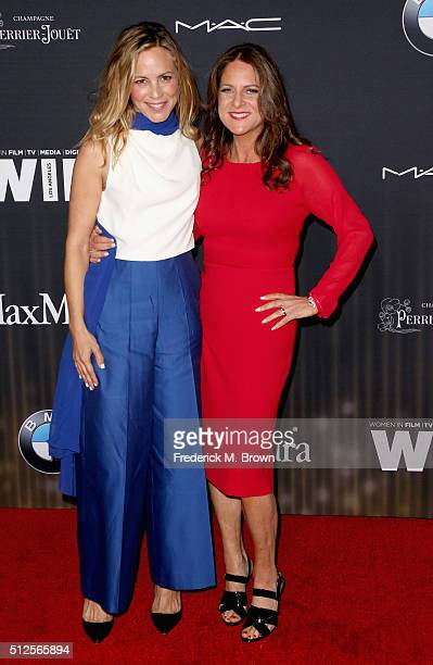 Actress Maria Bello and president of Women In Film LA Cathy Schulman attend Ninth Annual Women in Film PreOscar Cocktail Party presented by Max Mara...