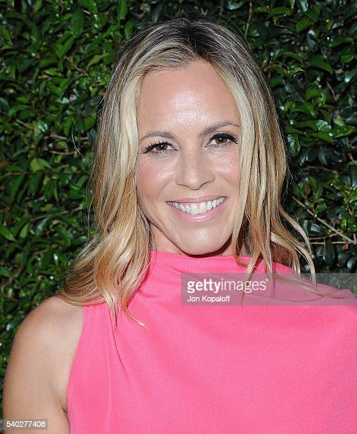Actress Maria Bello arrives at Max Mara Celebrates Natalie DormerThe 2016 Women In Film Max Mara Face Of The Future at Chateau Marmont on June 14...