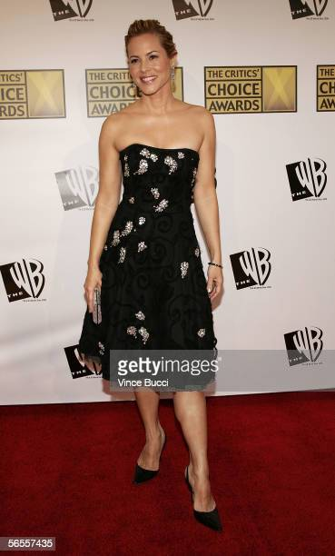 Actress Maria Bello arrives at the 11th Annual Critics' Choice Awards held at the Santa Monica Civic Auditorium on January 9, 2006 in Santa Monica,...